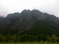 Some misty cliffs I shot in North Bend while picking blueberries this summer.